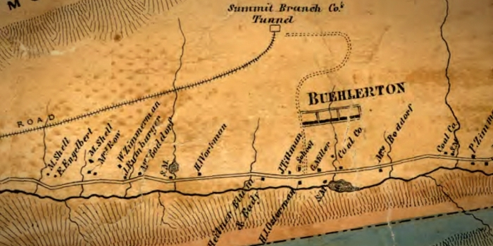 Map Buehlerton 1862