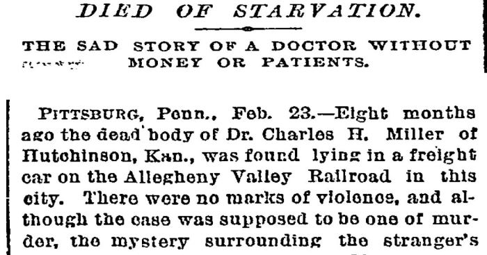 Died of Starvation