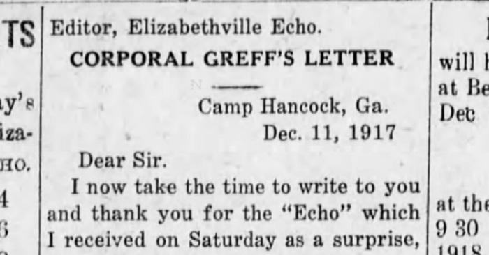 Graeff Letter