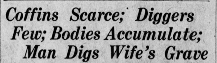 Coffins Scarce
