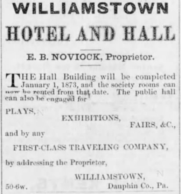 Williamstown Hotel Ad