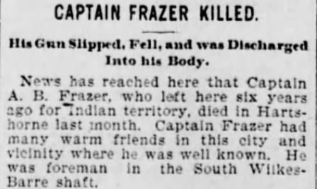 captain frazer killed