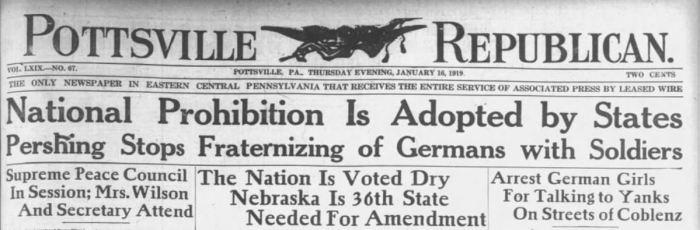 Prohibition Announcement