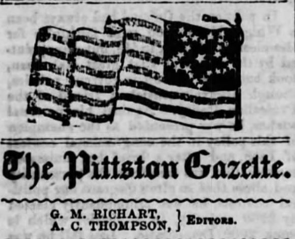 Pittston Gazette - April 1861