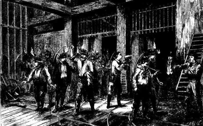 Miners Abandoning Mine - 1877