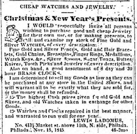 1845 Christmas Presents