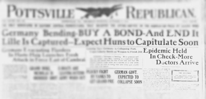 Influenza 1918 Headline