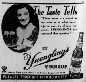 Ad for Winner Beer - November 1933