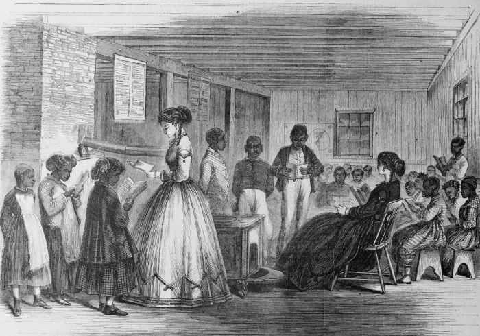 Freedmen's School - LOC - 1866