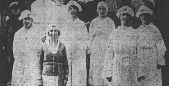 Flu Nurses - October 1918 - Wilkes-Barre Social