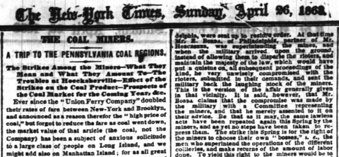 New York Times 1863