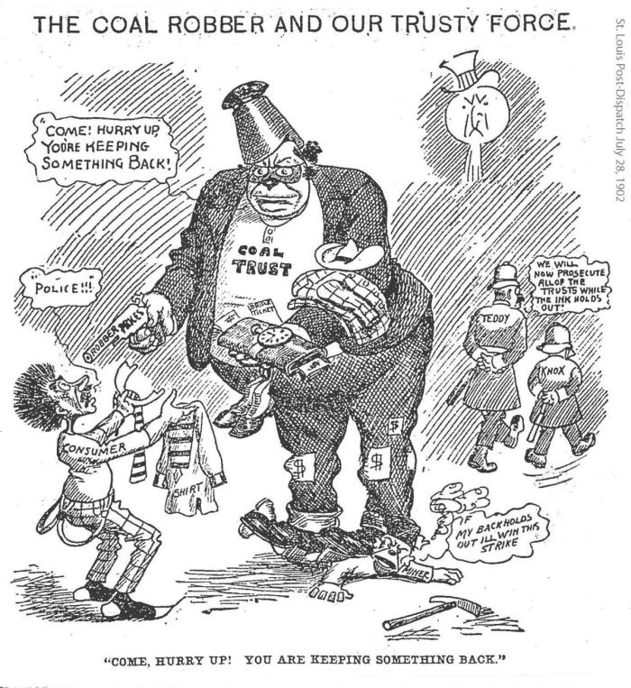 Coal Cartoon 1902