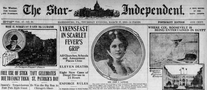 Lykens Scarlet Fever Headline