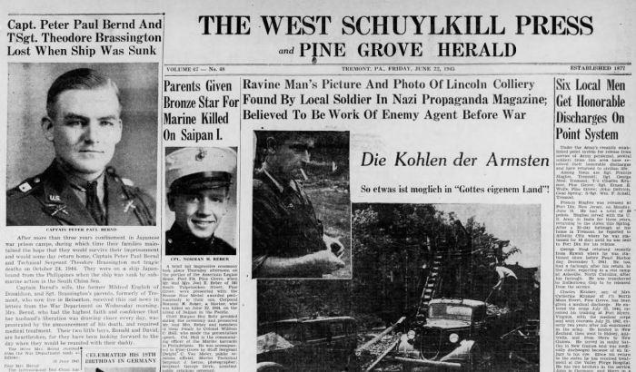 Nazi Propaganda Headline - Lincoln Colliery