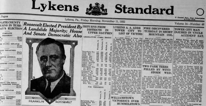 Standard 1932 Election