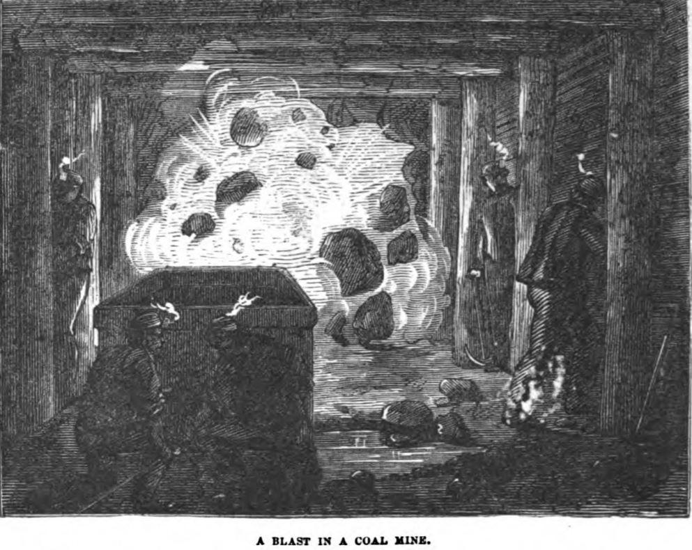A Blast in a Coal Mine 1877