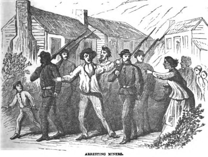 Arresting Miners 1877