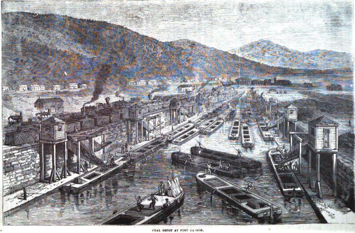 Coal Depot at Port Carbon 1877