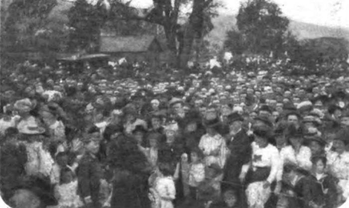 Crowds to Hear John Mitchel - 1902
