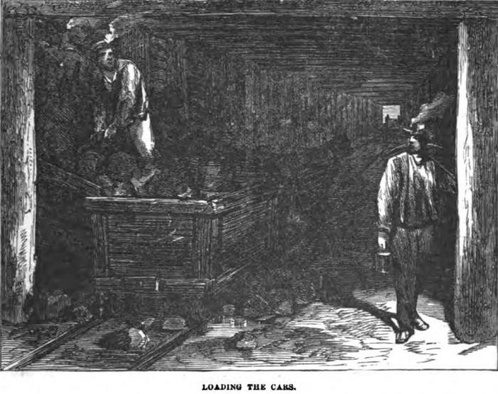 Loading the Cars - Underground 1877