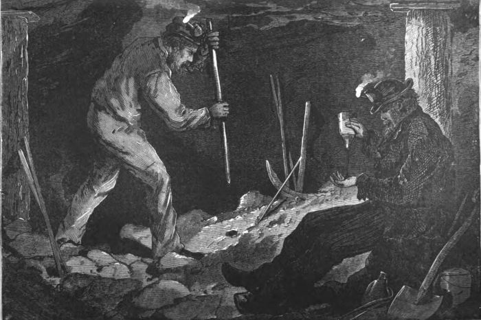 Miners Preparing a Blast 1877