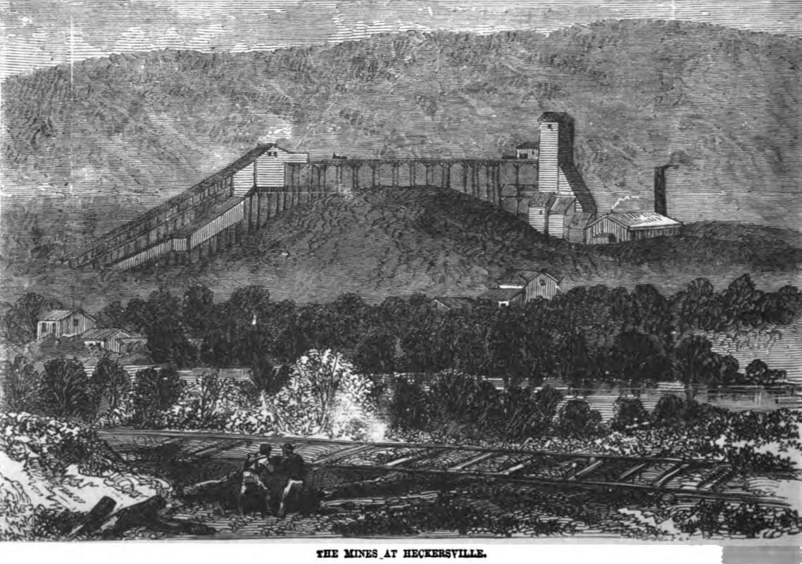 Mines at Heckschersville 1877