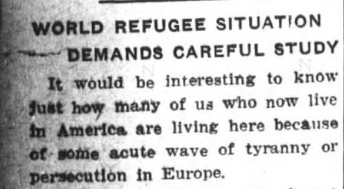 Refugees Editorail