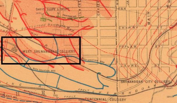 West Shenandoah Mine Map