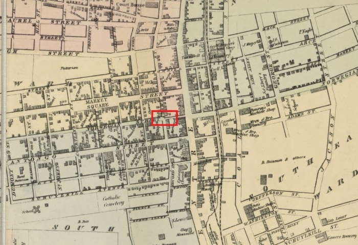 Location of Recruiting Office in 1864