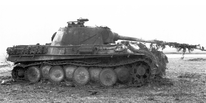 Destroyed Panther Battle of Bulge
