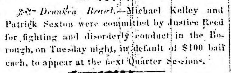 Drunken Brawl - March 1856