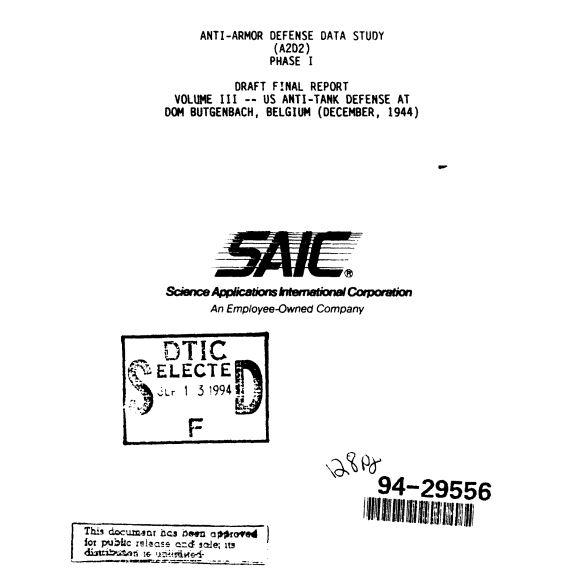 SAIC Study Cover