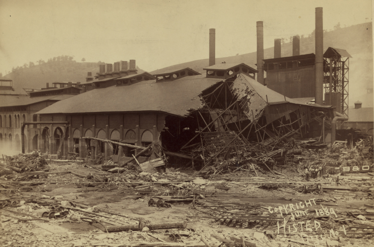 Cambria Iron Works destroyed