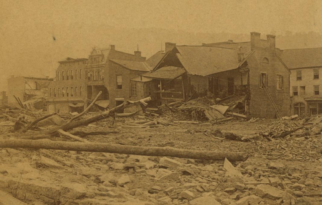 Main Street damage Johnstown Flood
