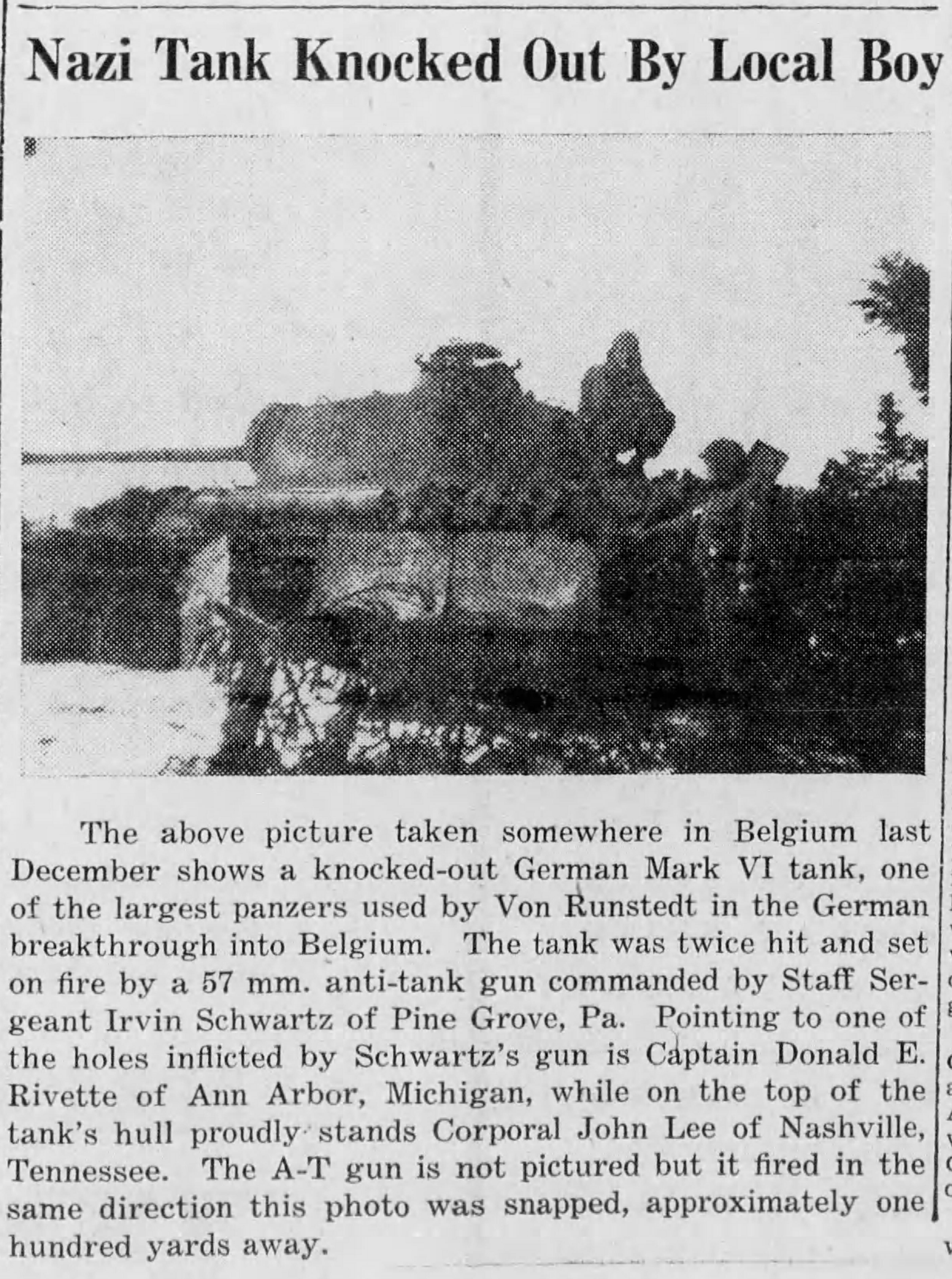 Schwartz Tank Full Story