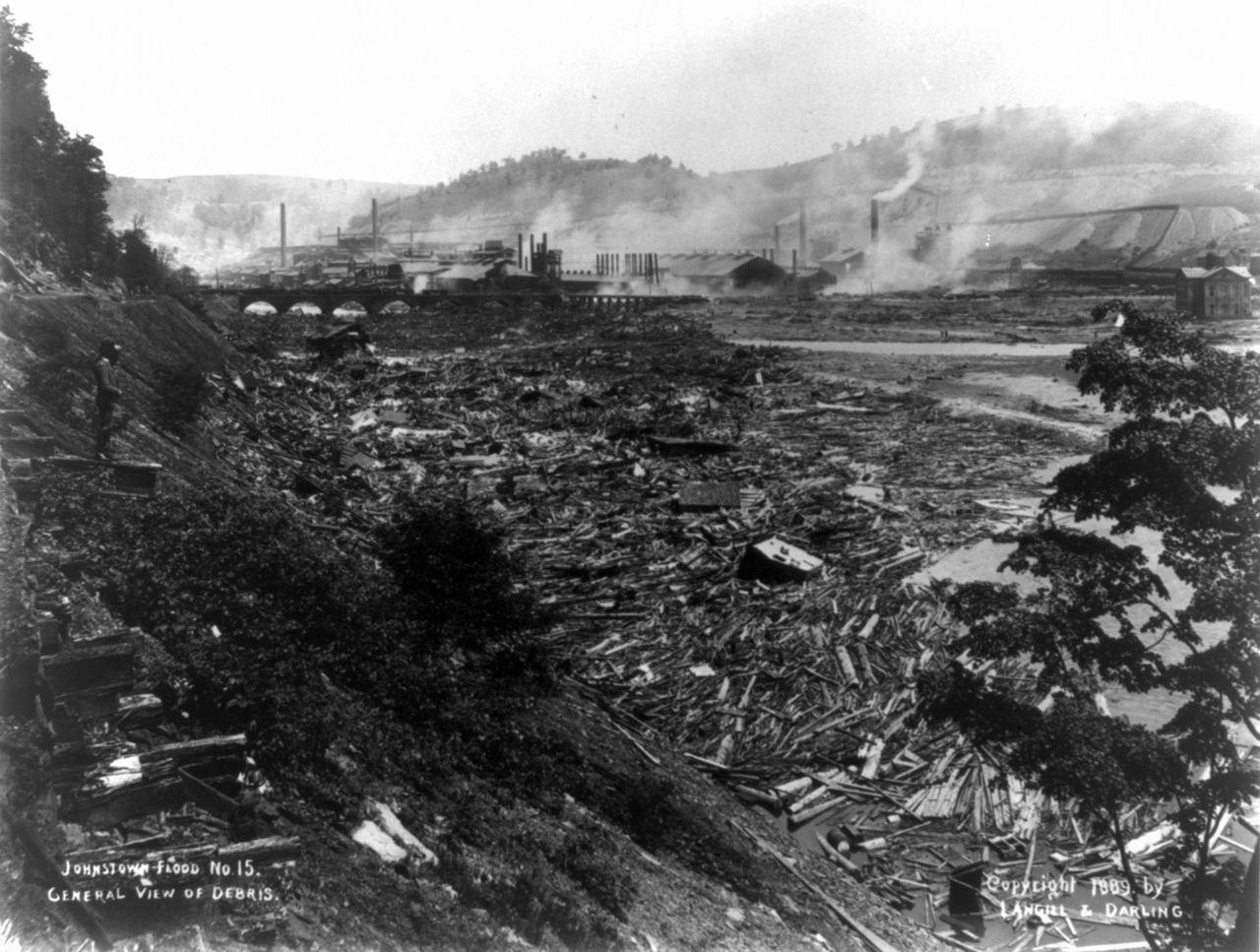 The Debris Field Below Johnstown